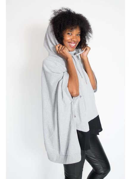 Henley Colorblock Poncho
