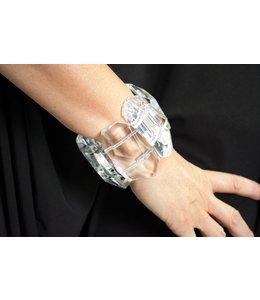 Monies Clear Acrylic Bracelet