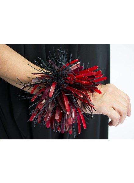 Monies Red Horn & Cord Bracelet