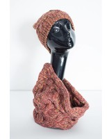 Marled Infinity Scarf & Hat Set