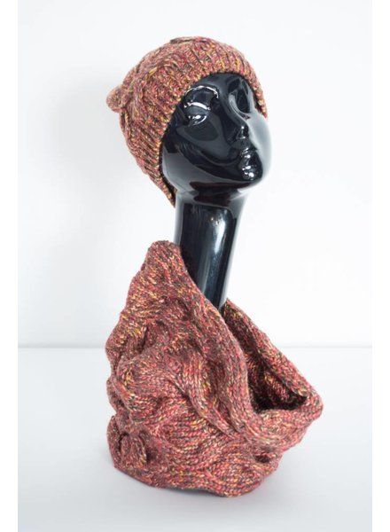 Marled Infinity Scarf & Hat Set
