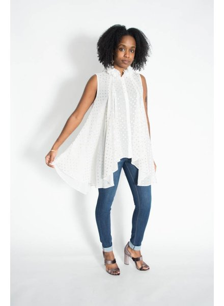 WHY Gold Dot Blouse