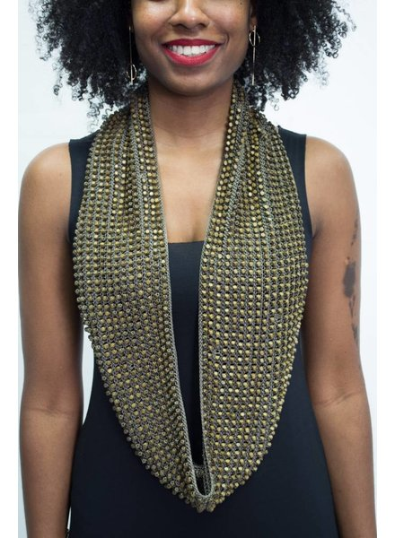 Jianhui London Wood Beaded Crochet Snood
