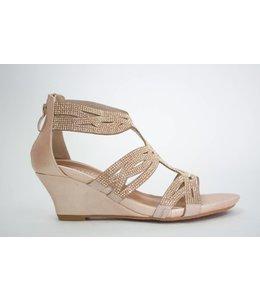 Spring Step Sparkling Wedge Sandal