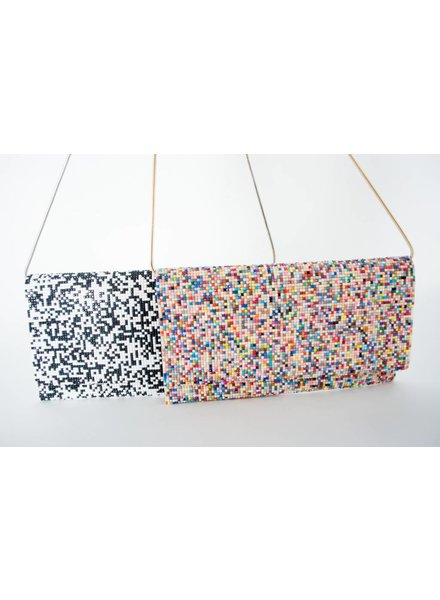 Sondra Roberts Faceted Seed Bead Clutch