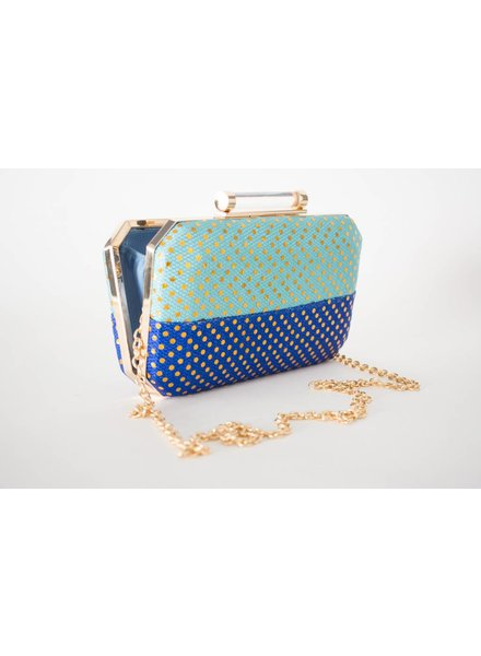 Sondra Roberts Colorblock Clutch