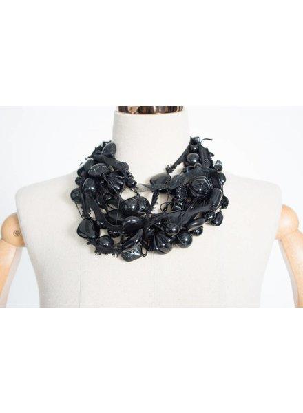 Teresa Goodall Black Multi Strand Necklace