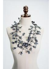 Annemieke Broenink Size Tag Rubber Necklace