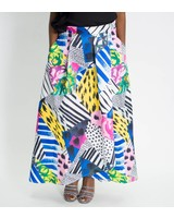Mixed Print Skirt