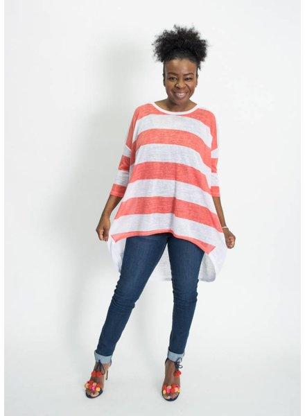 Wonderland by Orange Stripe Tunic Top