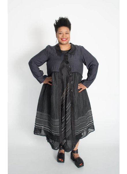 Mara Gibbucci Linen Stripe Jacket