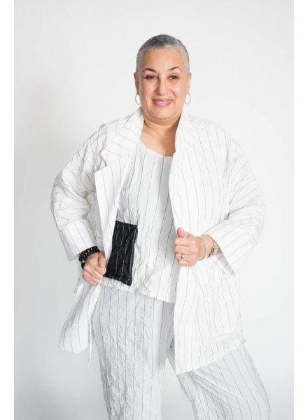Heydari Crinkle Stripe Jacket