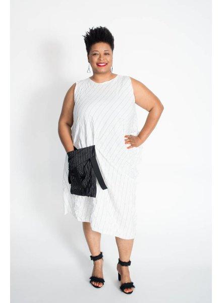 Heydari Crinkle Stripe Dress