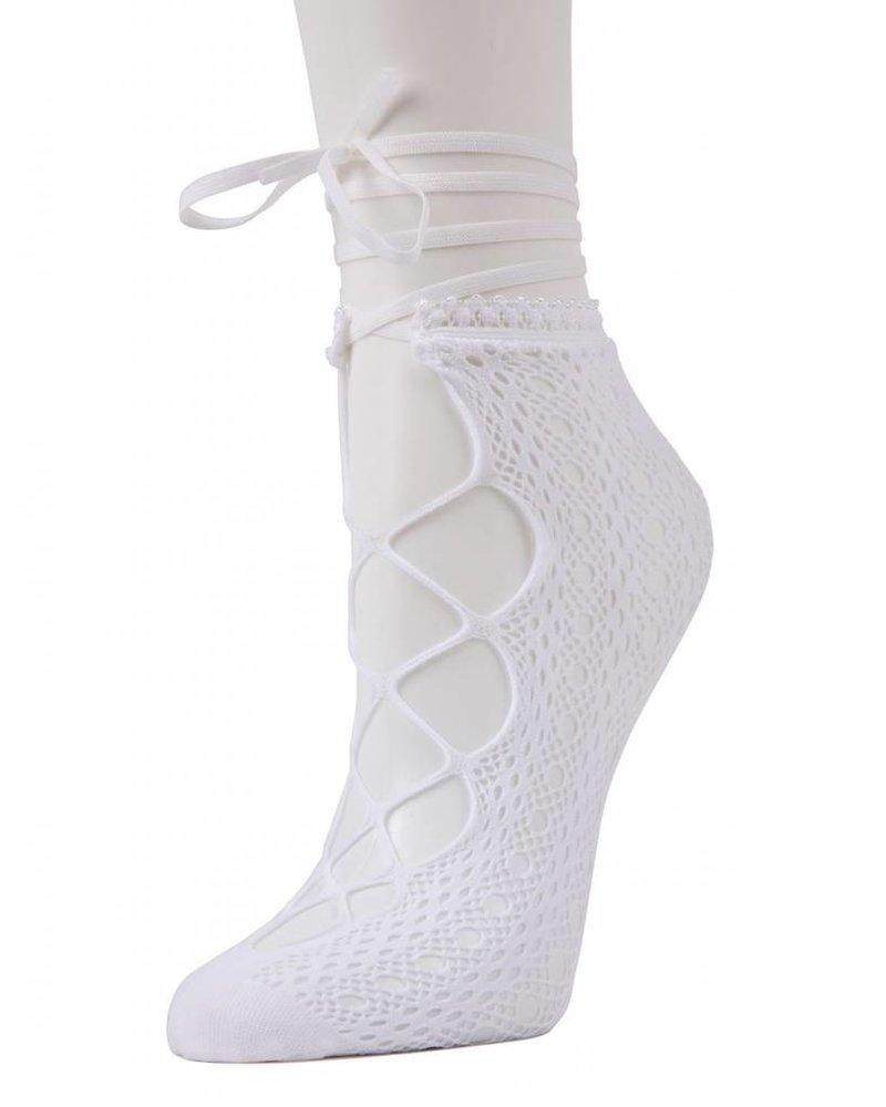 MeMoi MeMoi Lace-Up Net Socks