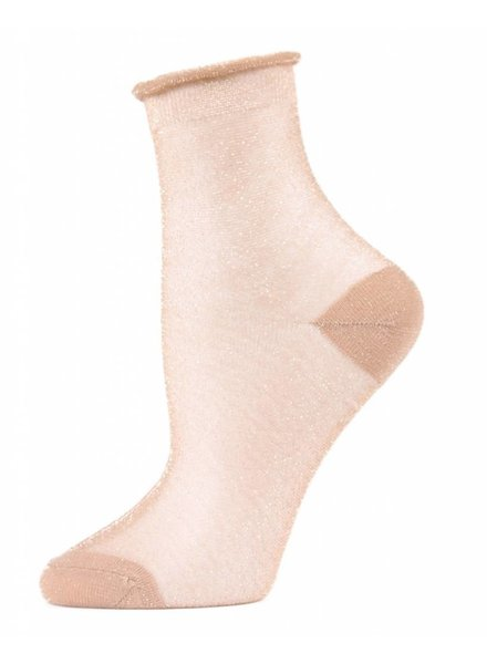 MeMoi Metallic Sheer Shortie Socks