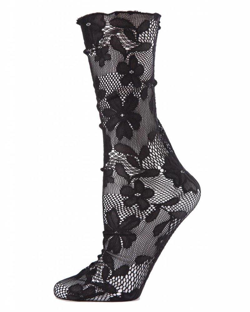MeMoi MeMoi Floral Lace Slouch Socks