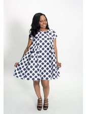 Baci & Amici Polka Dot Baby Doll Dress