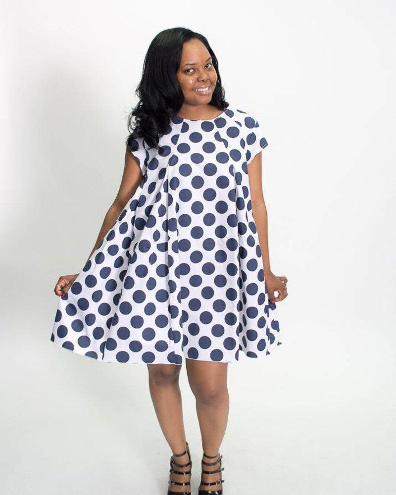 Baci & Amici Baci & Amici Polka Dot Baby Doll Dress