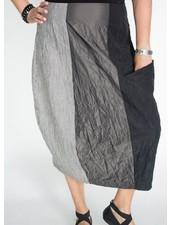 Alembika Mixed Fabric Skirt