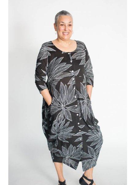 Alembika Tropical Leaf Dress