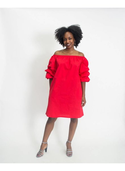 Kaktus Cabbage Sleeve Dress