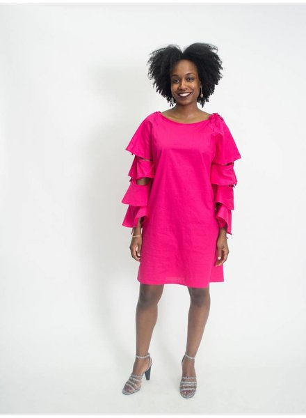 Kaktus Tiered Sleeve Dress | Plus