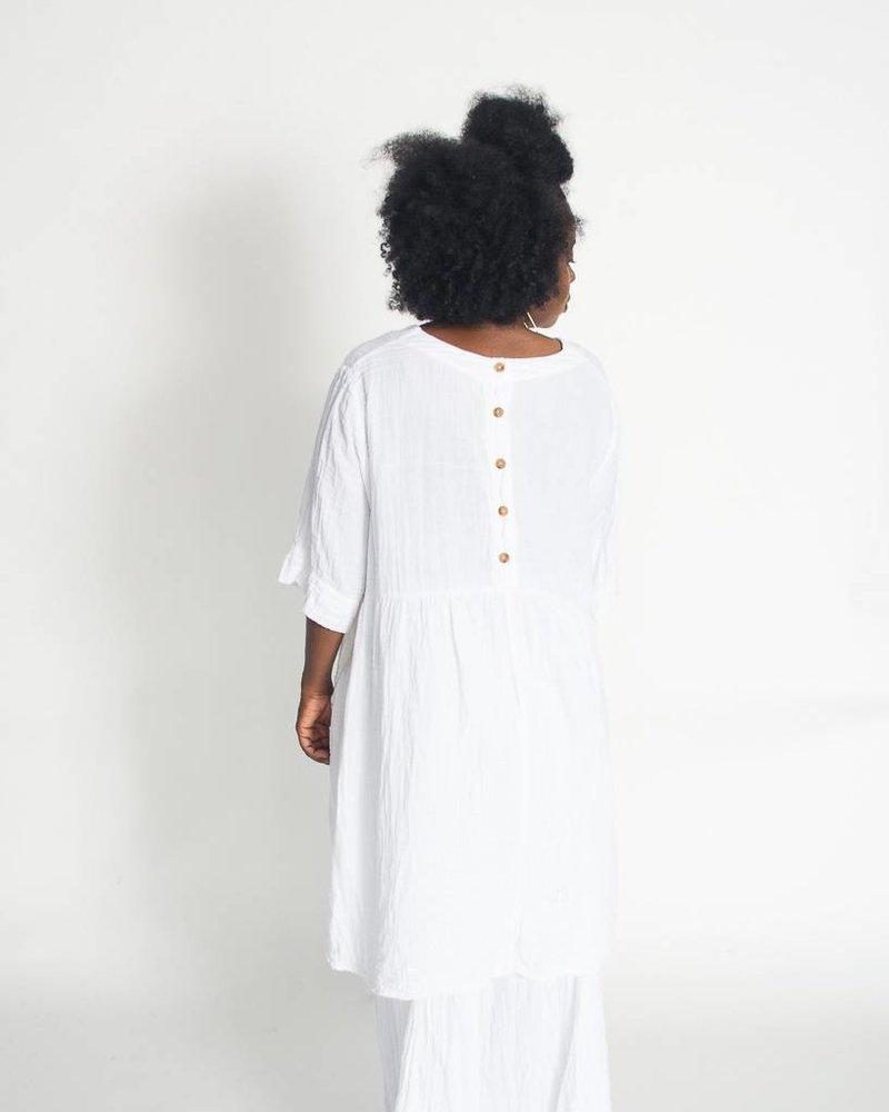 Nusantara Nusantara Thai Back Button Dress