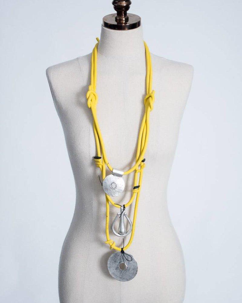 Luukaa Luukaa Rubber & Metal Necklace