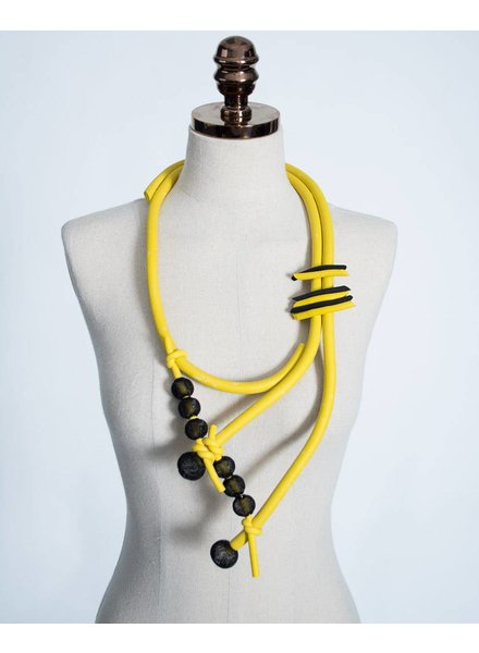 Luukaa Rubber Necklace w/ Mesh Balls