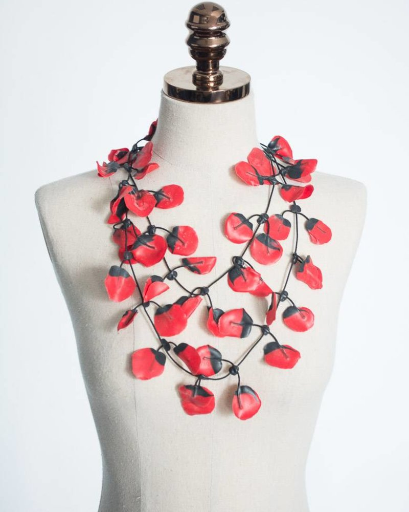 Annemieke Broenink Annemieke Broenink Poppy Necklace | Red