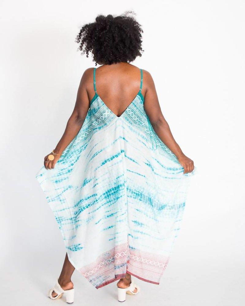 Tie-Dye Scarf Dress