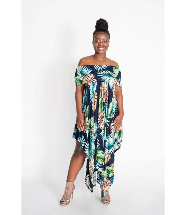 Off the Shoulder Tropical Dress