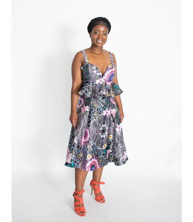 CQ CQ Peplum Midi Dress