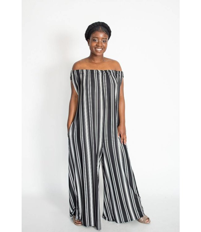 Love In Stripe Jumpsuit