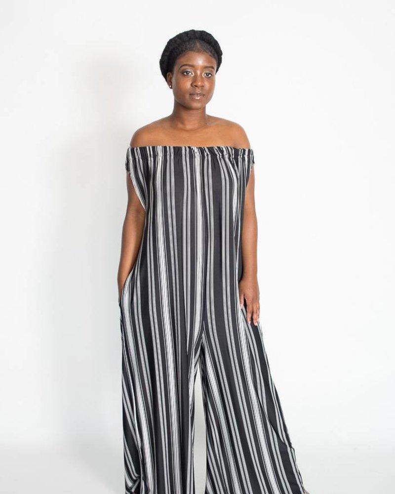 Love In Stripe Jumpsuit