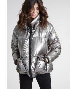 Lauren Vidal Gunmetal Puffer Jacket
