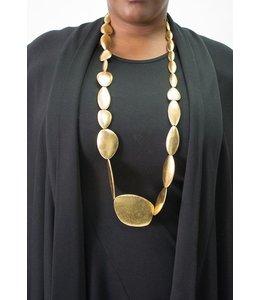 Monies Gold Pebble Necklace