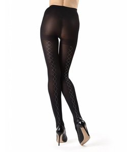 Diamond Stud Opaque Tights