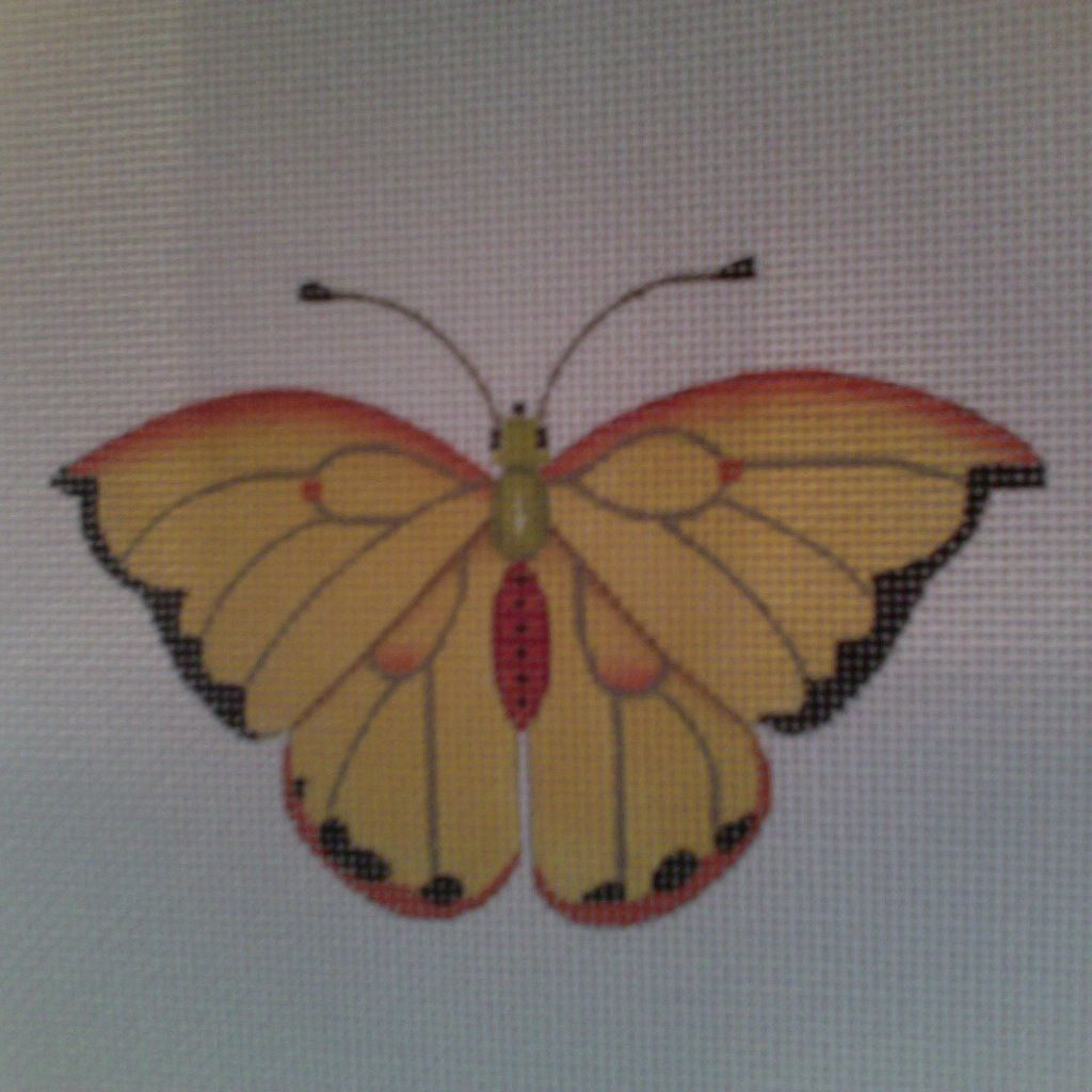 Canvas BUTTERFLY YELLOW  1414F