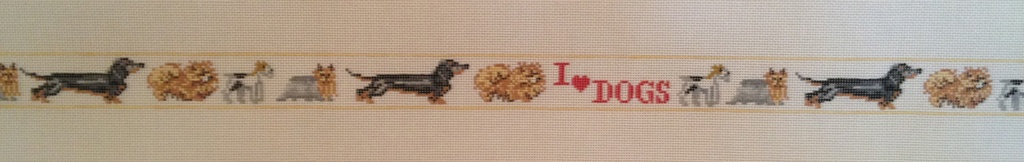 Canvas I LOVE DOGS BELT  B13