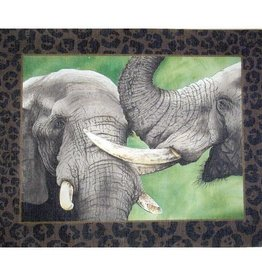 Canvas TWO ELEPHANTS  VHA36