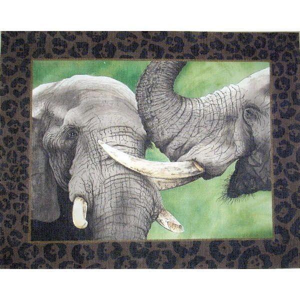 Canvas TWO ELEPHANTS  VHA36
