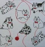 Canvas PILLOW CATS  YP59C<br /> REG 74.00