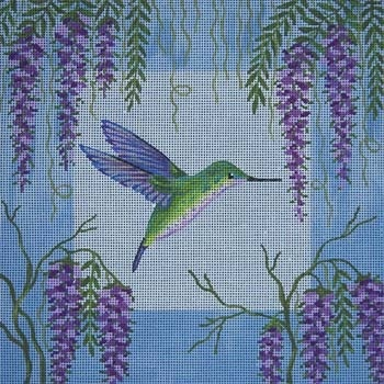 Canvas HUMMINGBIRD AND WISTERIA  B045