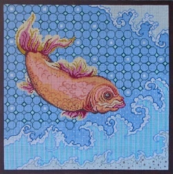 Canvas CARP JUMPING WAVES  8107