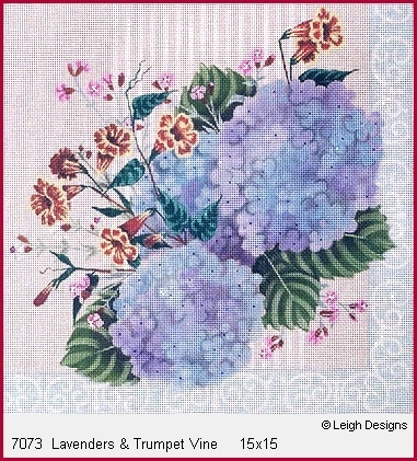 Canvas LAVENDER HYDRANGEA AND VINE  7073