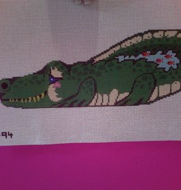 Canvas BABY ALLIGATOR DOORSTOP  F94