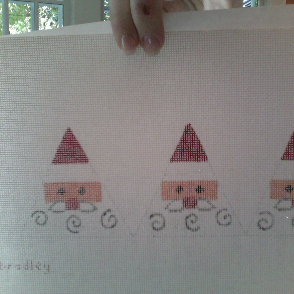 Canvas TRIANGLE SANTA FACE  AB32