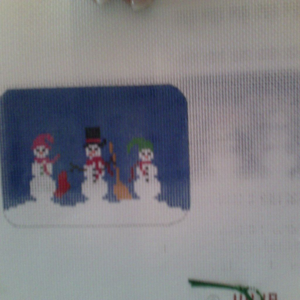 Canvas SNOWMAN BOX WITH HINGE LB111