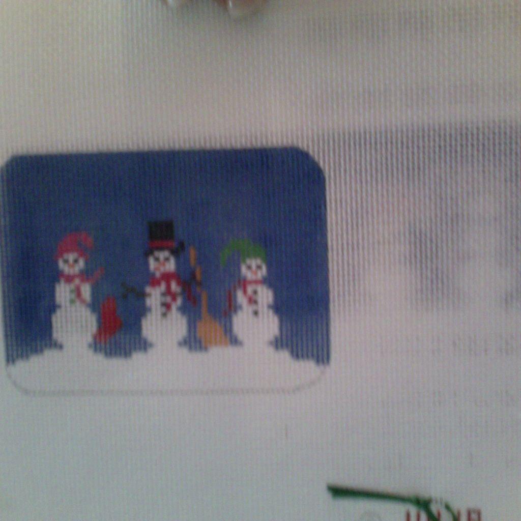 Canvas SNOWMAN BOX WITH HINGE LB111